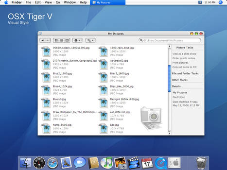 OSX Tiger V visual style