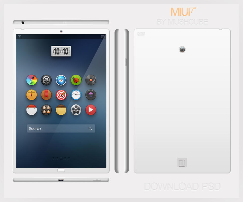 MIUI Pad PSD by Mushcube
