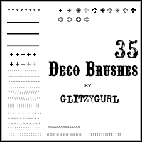 Deco Brushes by glitzygurl