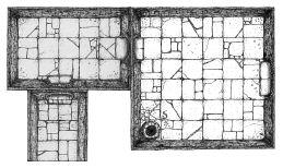 Dungeon Floorplan for DnD figs by billiambabble