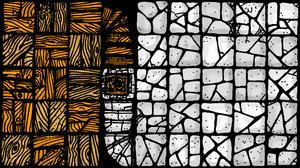 Wood n rough flagstone tiles by billiambabble