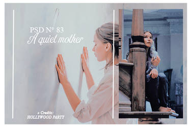 Psd 83 - A quiet mother by HollywoodParty