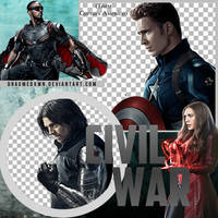 CIVIL WAR: TEAM CAPTAIN AMERICA PNG PACK by DragMeDxwn