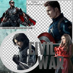 CIVIL WAR: TEAM CAPTAIN AMERICA PNG PACK