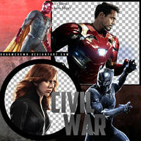 CIVIL WAR: TEAM IRON MAN PNG PACK by DragMeDxwn