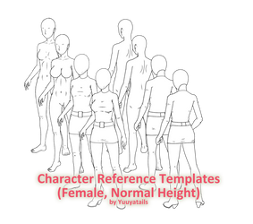 Character reference templates (Female, Normal) by Yuuyatails