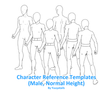 Character reference templates (Male, Normal) by Yuuyatails