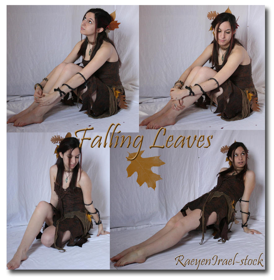 Falling Leaves 'Sitting' by RaeyenIrael-Stock