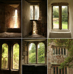 Castle Windows Pack by RaeyenIrael-Stock