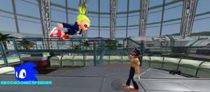 Super Sonic vs SMG4 Waluigi in his final form