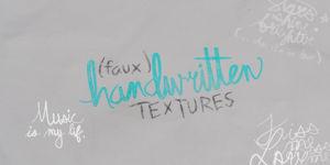 Faux Handwriting