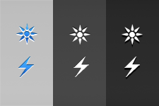 Sun and Lightning Carrier Logos by exultic