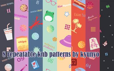 8 Seamless KNB Patterns by kyunyo