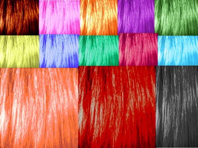 MMD Normal hair textures by baka-kuroki