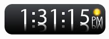 ClockWhiteGadget Win 7 by javixtreme