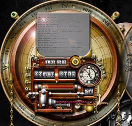 Steampunk Clock Calendar MKII (2.9) RC by yereverluvinuncleber