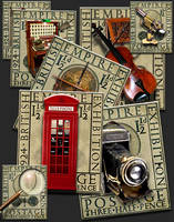 Steampunk Eric Gill Stamp PNG Icon Set