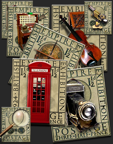 Steampunk Eric Gill Stamp PNG Icon Set by yereverluvinuncleber