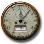 Steampunk Clock Icon and Desktop Widget