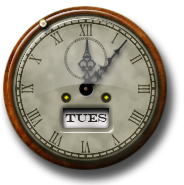 Steampunk Clock Icon and Desktop Widget by yereverluvinuncleber