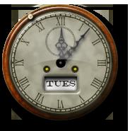 Steampunk Clock Icon and Desktop Widget by yereverluvinuncleber
