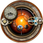Rainmeter Skin for the Steampunk Orrery and Clock