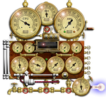 Steampunk Resource Monitor Yahoo Widget