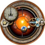 XWidget Skin for the Steampunk Orrery and Clock
