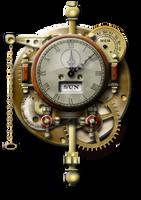Weird Steampunk Clock Yahoo Widget by yereverluvinuncleber