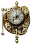 Weird Steampunk Clock Yahoo Widget by yereverluvinuncleber