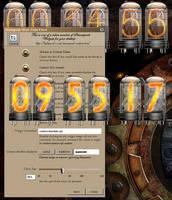 Cyberpunk Nixie Tube Clock Yahoo Widget by yereverluvinuncleber