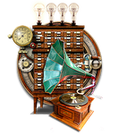 Steampunk Itunes Audio Player Icon MkII