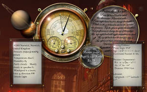 Steampunk Weather Icon and Widget MkIII by yereverluvinuncleber