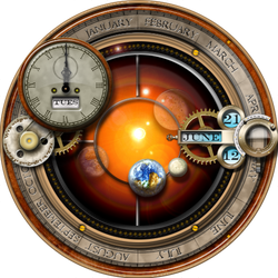 Steampunk Orrery Plasmoid Widget for Linux Kubuntu by yereverluvinuncleber