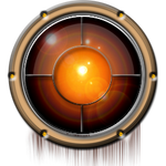 Steampunk Space Porthole Icon