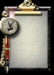 Steampunk Glass Clipboard Icon