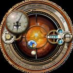 Steampunk Orrery Calendar Clock Yahoo Widget MkII