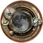Steampunk Moon Phase Widget and Icons