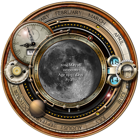 Steampunk Moon Phase Widget And Icons By