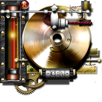 Steampunk Hard drive Indicator Icon by yereverluvinuncleber