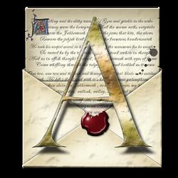 Steampunk A Open Envelope Icon