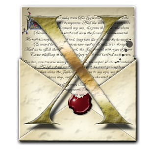Steampunk X Open Envelope Icon by yereverluvinuncleber