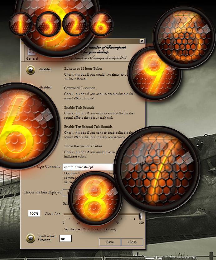 Steampunk Thermionic Nixie Tube XWidget by