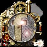 Steampunk Facebook Cogs Icon