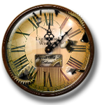 Steampunk Weathered Clock Icon and Widget