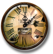 Steampunk Weathered Clock Icon and Widget by yereverluvinuncleber
