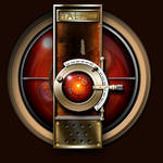 Steampunk Space Odyssey 2001 Hal9000 Icon