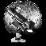 Steampunk IO Moon GreyScale Icon