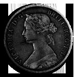 Steampunk Penny GreyScale Icon