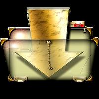 Steampunk Download Folder Icon by yereverluvinuncleber